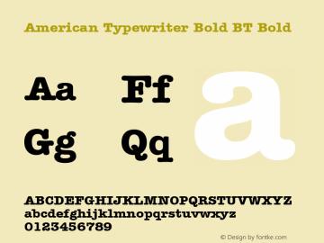American Typewriter Bold BT