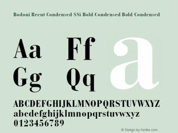 Bodoni Recut Condensed SSi Bold Condensed