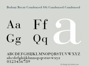 Bodoni Recut Condensed SSi Condensed