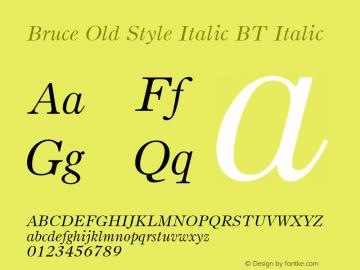 Bruce Old Style Italic BT