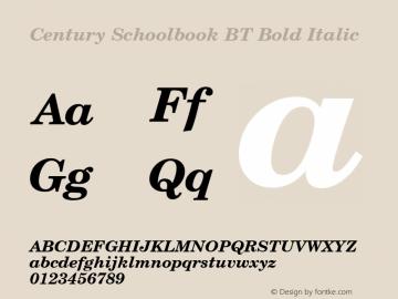 Century Schoolbook BT
