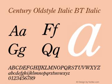 Century Oldstyle Italic BT