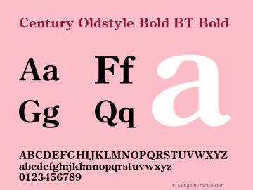 Century Oldstyle Bold BT