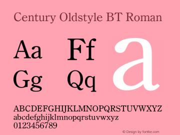 Century Oldstyle BT
