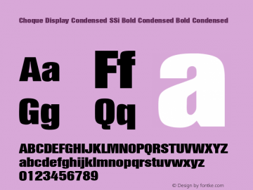 Choque Display Condensed SSi Bold Condensed