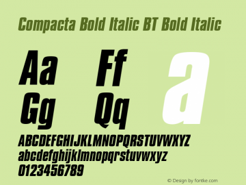 Compacta Bold Italic BT