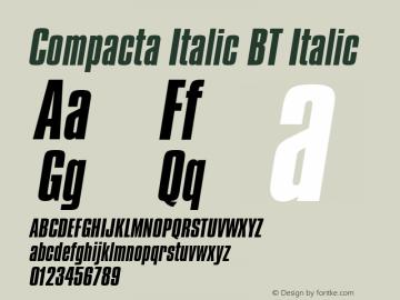 Compacta Italic BT