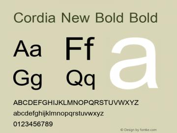 Cordia New Bold