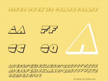 Disco Duck 3D Italic