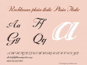 Rechtman plain italic