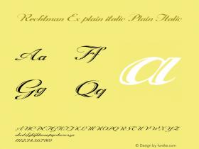 Rechtman Ex plain italic
