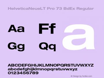 HelveticaNeueLT Pro 73 BdEx