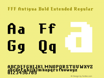 FFF Antigua Bold Extended