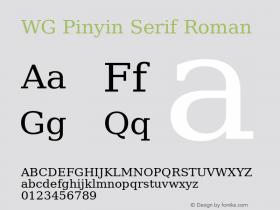 WG Pinyin Serif