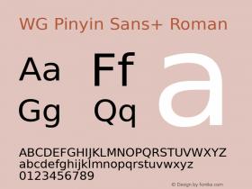 WG Pinyin Sans+