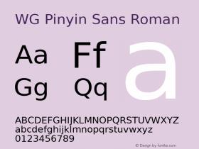 WG Pinyin Sans