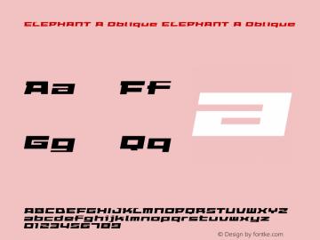 ELEPHANT A Oblique
