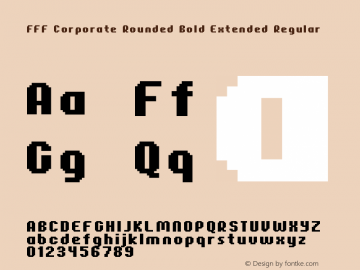 FFF Corporate Rounded Bold Extended
