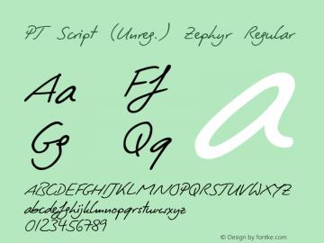 PT Script (Unreg.) Zephyr