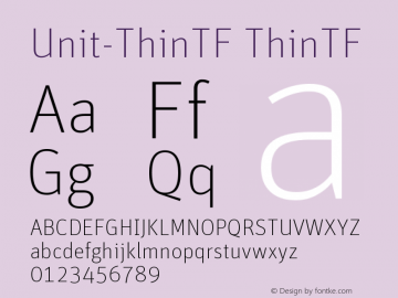 Unit-ThinTF