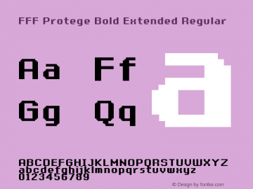 FFF Protege Bold Extended