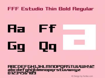 FFF Estudio Thin Bold