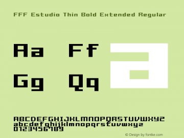 FFF Estudio Thin Bold Extended