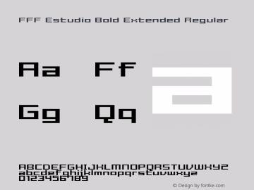 FFF Estudio Bold Extended