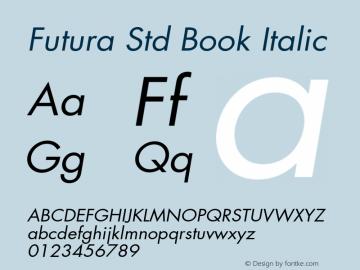 Futura Std Book
