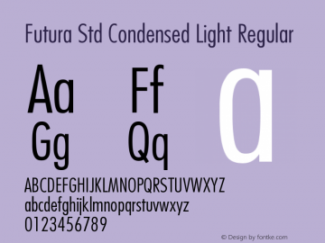 Futura Std Condensed Light