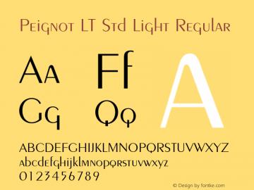 Peignot LT Std Light