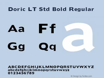 Doric LT Std Bold