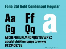 Folio Std Bold Condensed