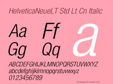 HelveticaNeueLT Std Lt Cn