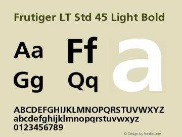 Frutiger LT Std 45 Light