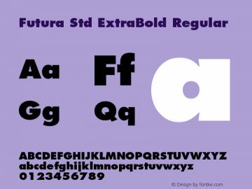 Futura Std ExtraBold