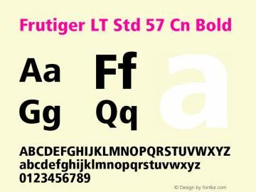Frutiger LT Std 57 Cn