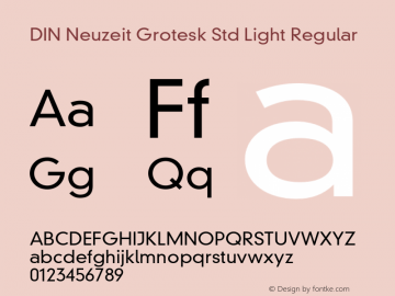 DIN Neuzeit Grotesk Std Light