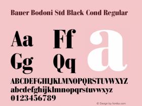 Bauer Bodoni Std Black Cond