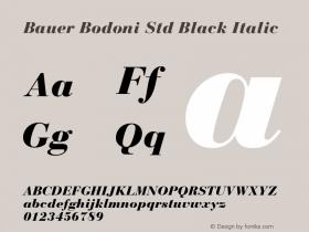 Bauer Bodoni Std Black