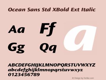 Ocean Sans Std XBold Ext
