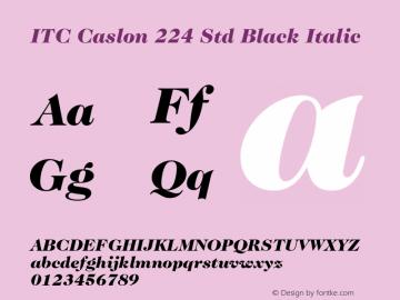 ITC Caslon 224 Std Black