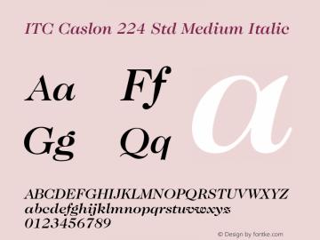 ITC Caslon 224 Std Medium