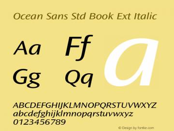 Ocean Sans Std Book Ext