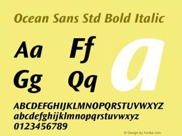 Ocean Sans Std Bold