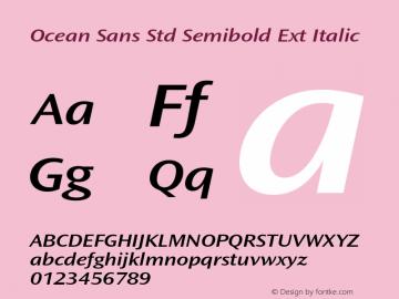 Ocean Sans Std Semibold Ext