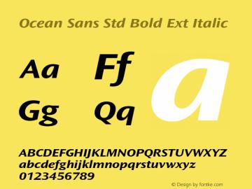 Ocean Sans Std Bold Ext