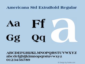 Americana Std ExtraBold