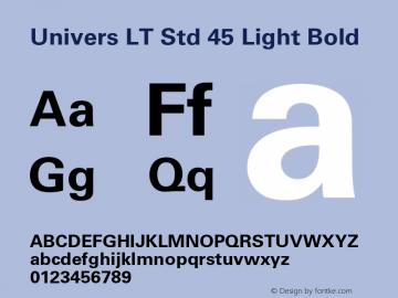 Univers LT Std 45 Light