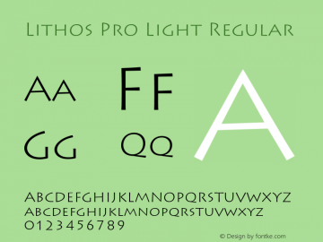 Lithos Pro Light